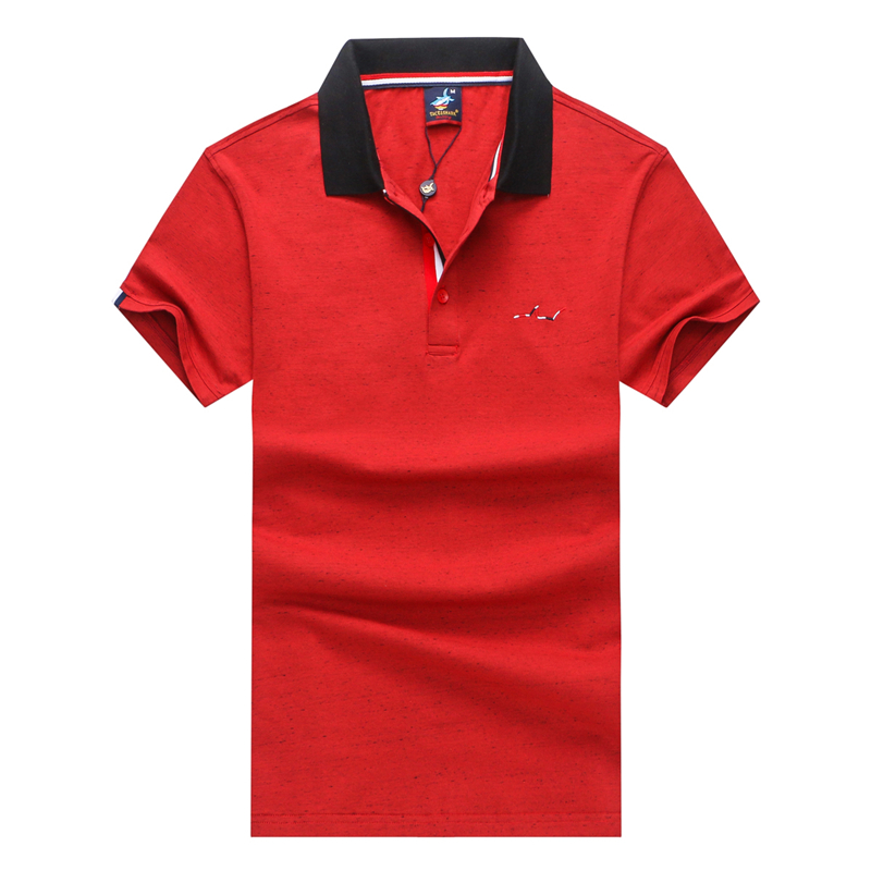 e3a93ac74 TACE SHARK Brand Crown Embroidery Polos Shirt Camisa Masculina Fashion Men  Casual Solid Color Male Black Polo Shirt Plus Size