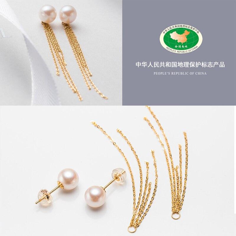 Sinya คลาสสิก 18 k gold พู่ต่างหูธรรมชาติรอบไข่มุกสตั๊ดต่างหู Au750 ทองสำหรับผู้หญิง Mum ที่ดีที่สุดของขวัญ-ใน ต่างหู จาก อัญมณีและเครื่องประดับ บน   3