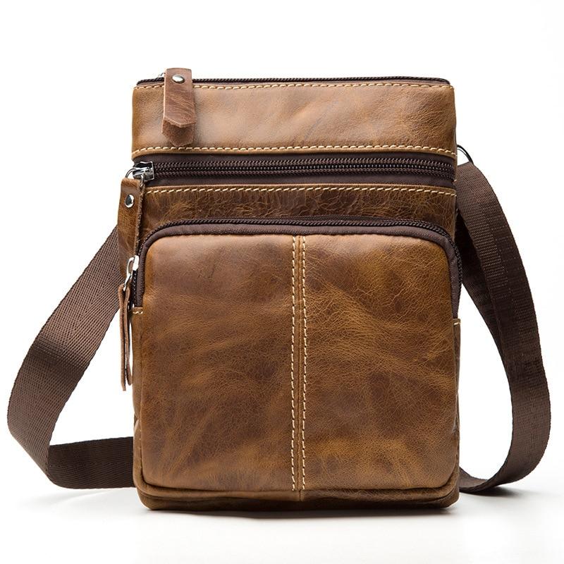 3c57f564446d MACWAVE Vintage Messenger Bag Handbags Genuine Leather Small male Crossbody  Bags For Men Shoulder Bag Leather