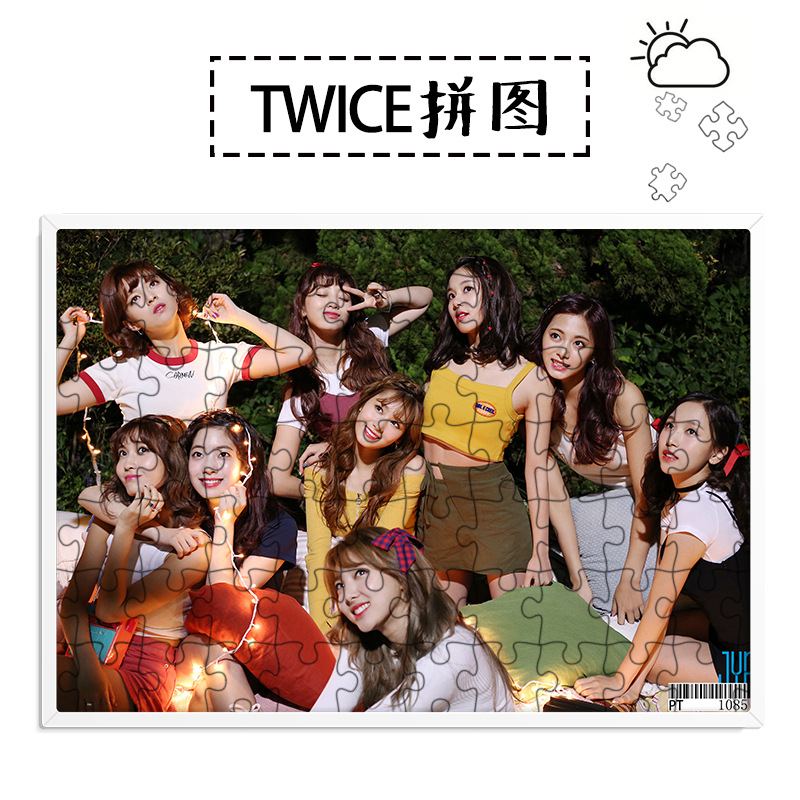 [MYKPOP]TWICE LIKEY Puzzles 120pcs With A Photo Frame Desk Decoration KPOP Fans Collection SA18052108