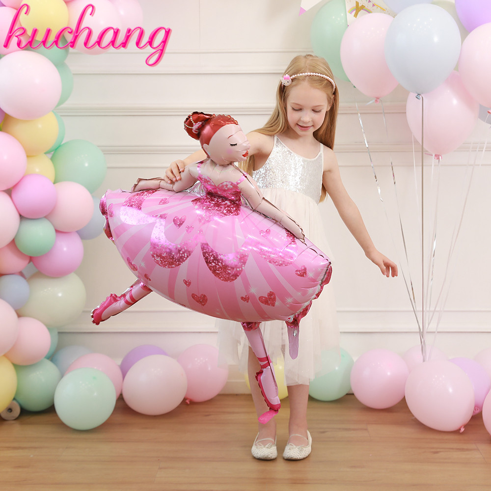 "3 X BALLERINA SUPERSHAPES HELIUM Foil Balloon  36/"" X 24/"""