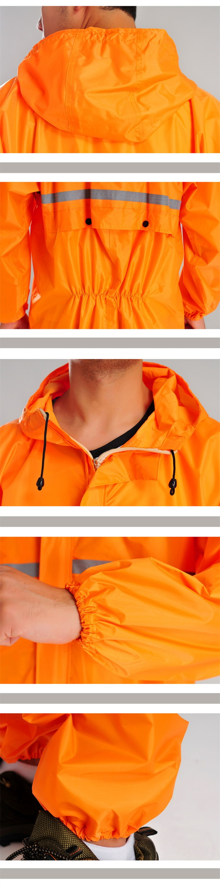 Conjoined raincoats, overalls Electric motorcycle fashion raincoat, men and women fission rain suit4