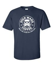 Star Wars Coffee May The Froth Be With You Storm Trooper Mens Tee Shirt 173 Free shipping  Harajuku Tops Classic Unique