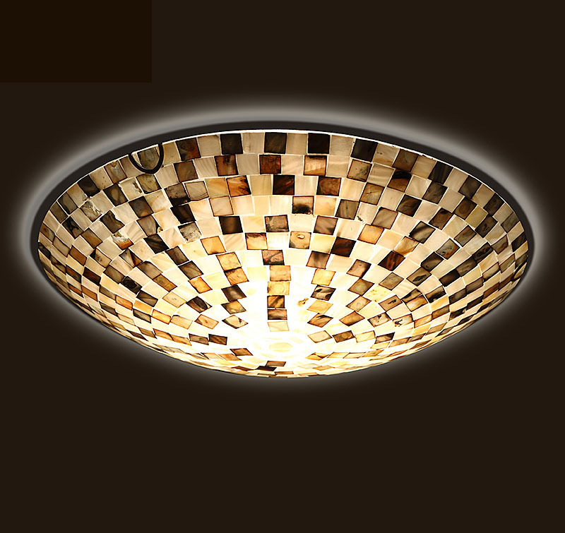 Lightings: Romantic Tiffany Shell Ceiling Light Special Art Lights