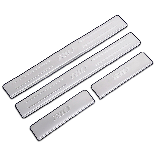 Car Accessories For Kia Rio K2 2018 2017 2016 2010 Stainless Steel Scuff Plate