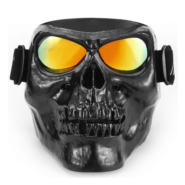 Skull Head Motorcycle Goggles Motocross Glasses Off Road Dirt Bike
