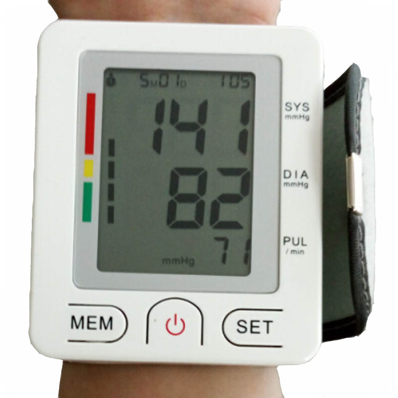 Health Care Fully Automatic Wrist Style Digital Blood Pressure Monitor Tonometer Meter for Measuring And Pulse Rate health care wrist portable digital automatic blood pressure monitor
