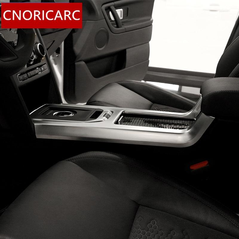 CNORICARC Chrome ABS style Central changement de vitesse panneau revêtement d'habillage décalcomanies pour Land Rover Discovery Sport 2015-18 accessoires de voiture