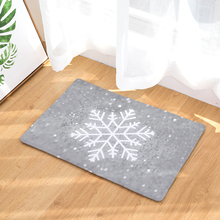 Mat Christmas Snow Printing Flannel Entrance