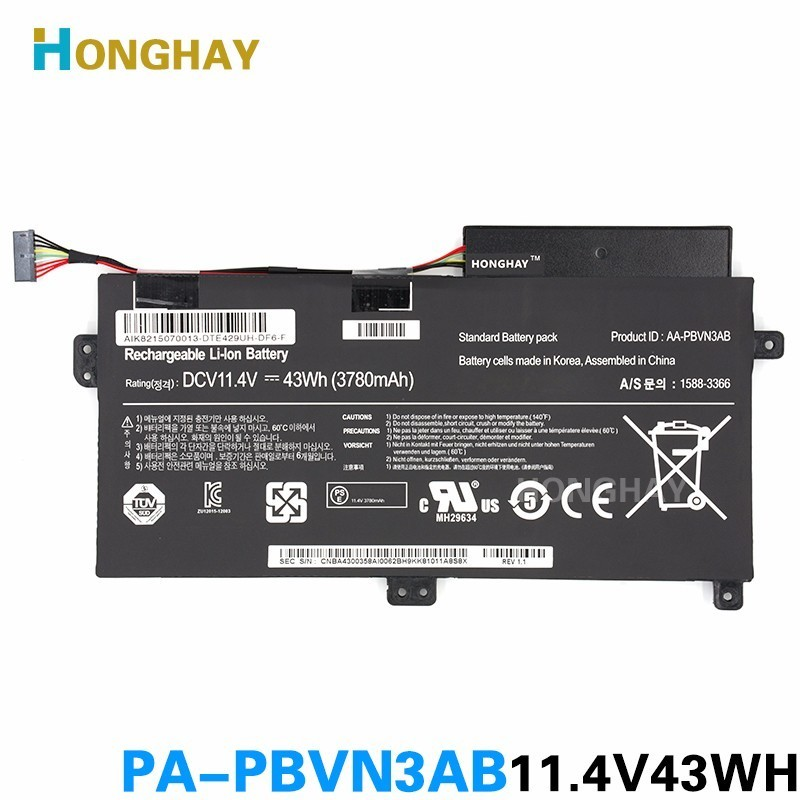 HONGHAY AA-PBVN3AB Laptop Battery For SAMSUNG NP370R4E NP370R5E np450r5e Np470 Np510 NP370R4E-A03 NP370R5E-S04HONGHAY AA-PBVN3AB Laptop Battery For SAMSUNG NP370R4E NP370R5E np450r5e Np470 Np510 NP370R4E-A03 NP370R5E-S04