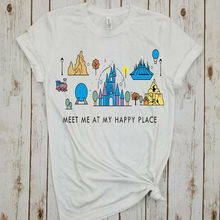 new meet me at my happy place shirt animal kingdom tee plus size girls tops summer  tshirt harajuku print tees cartoon недорого