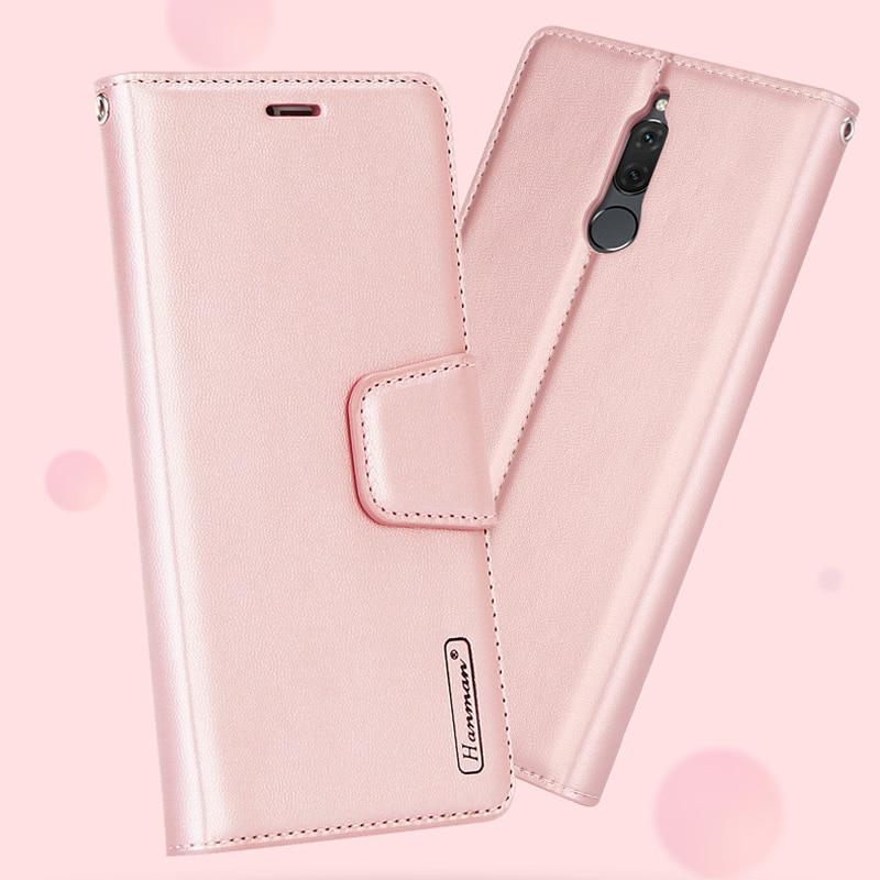 10pcs Hanman Sheepskin Leather Case For Samsung Galaxy S9 S10 S10e Plus Note 8 9 Flip