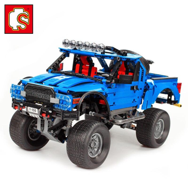 1288 pièces technique le F-150 Raptor pick-up tout-terrain véhicule voiture blocs de construction Set classique technique voiture modèle camion enfants jouets