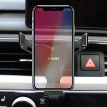 Smart Car Phone Holder For Phone in Car For iPhone X 8 7 6s Plus For Samsung S6 S7 S8 Gravity Mobile Air Vent Cell Phone Holder