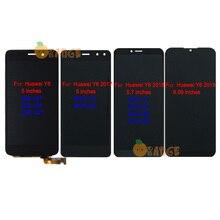 Nowy wyświetlacz LCD czujnik dla Huawei Y6 SCL L01/ Y6 2017 MYA L11/ Y6 2018 ATU L11 ATU L21/ Y6 2019 ekran dotykowy Digitizer zgromadzenie