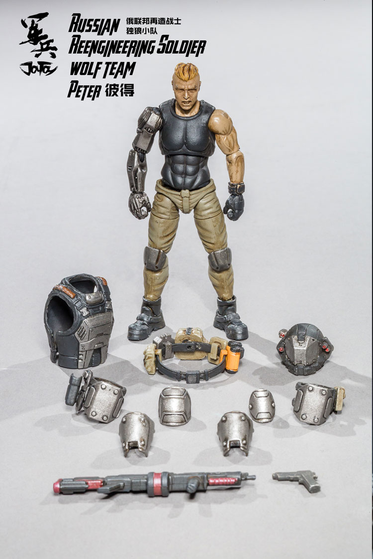 JOY TOY 1/18 Russian soldiers figure REENGINEERING SOLDIER WOLF TEAM model doll Free shipping 16mm length stroke plastic cap pneumatic shock absorber