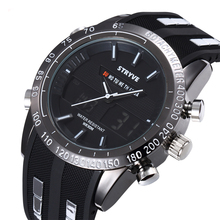 Relojes Man Sports Watch Stryve Brand Military Week Clock Waterproof Men Dual Display Quartz Digital relogio masculino