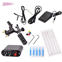1 Set Completed Exquisite Workmanship Tattoo Kit Equipment Tattoo Machine 5 Needles And Holders Tattoo Power