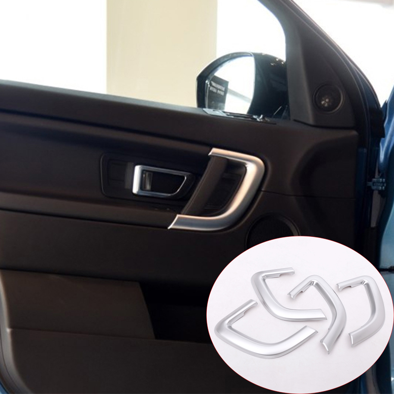 For Land rover Discovery Sport Car-Styling 2015-2017 ABS Matte Chrome Interior Door Handle Trims Car Accessories Auto Parts стоимость
