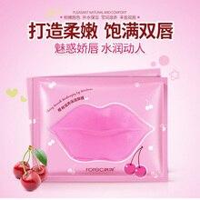 Красивая розовая коллагеновая маска для губ, гелевая маска для ухода, мембранная увлажняющая эссенция, против старения, кристаллические подушечки, мембрана для губ, уход за кожей губ