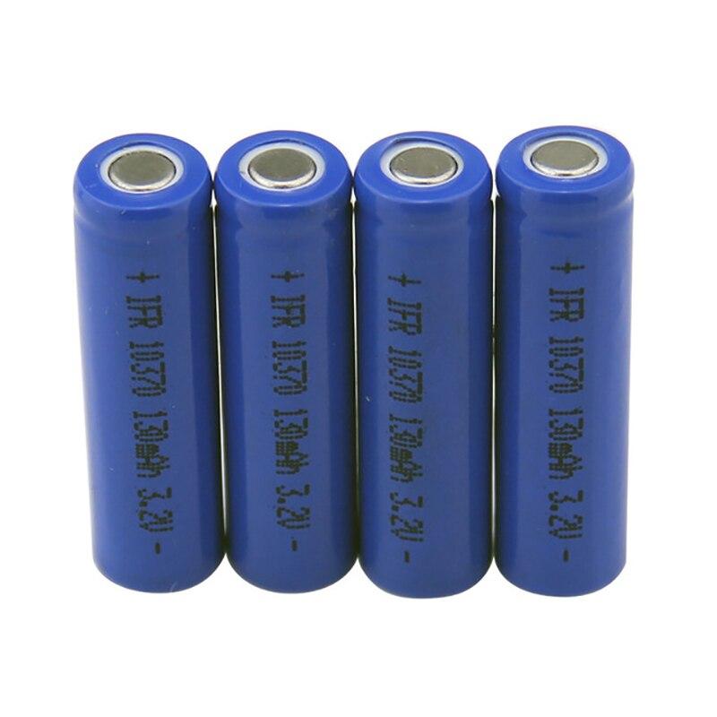 4 pièces 3.2 V 10370 LifePo4 Batterie Rechargeable 10C 130 mAh 10360 lithium portable baterias pour e-cigarette dispositif