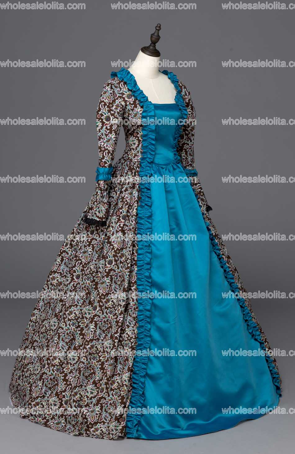 Queen Elizabeth I Medieval Renaissance Print Ball Gown Game of ...