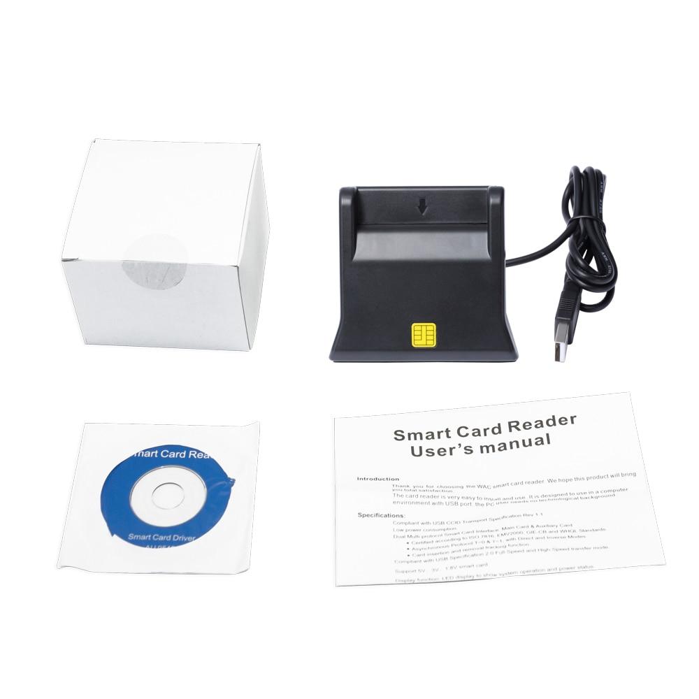 Купить с кэшбэком ZW-12026-3 EMV USB Smart Card Reader Writer DOD Military USB Common Access CAC Smart Card Reader ISO7816 For SIM /ATM/IC/ID Card