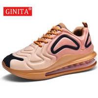 GINITA Men's Air Cushion Fashion Sneakers Men Casual Shoes Big Size 46 Outdoor Running Shoes Male Sport Footwear Sneaker Man