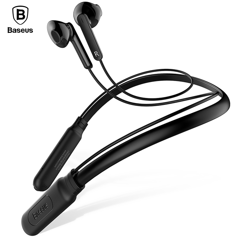 Baseus Neckband Bluetooth Earphone with Mic Wireless Headphone Stereo Auriculares Bluetooth Headset Fone De Ouvido kulakl k bluetooth earphone wireless music headphone car kit handsfree headset phone earbud fone de ouvido with mic remax rb t9
