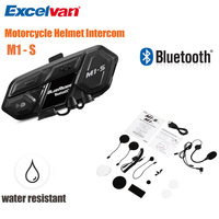 M1 S Motorcycle Helmet Headset Bluetooth Intercom System 4000m Support 8 Users Waterproof Music Play Hands Free Headset
