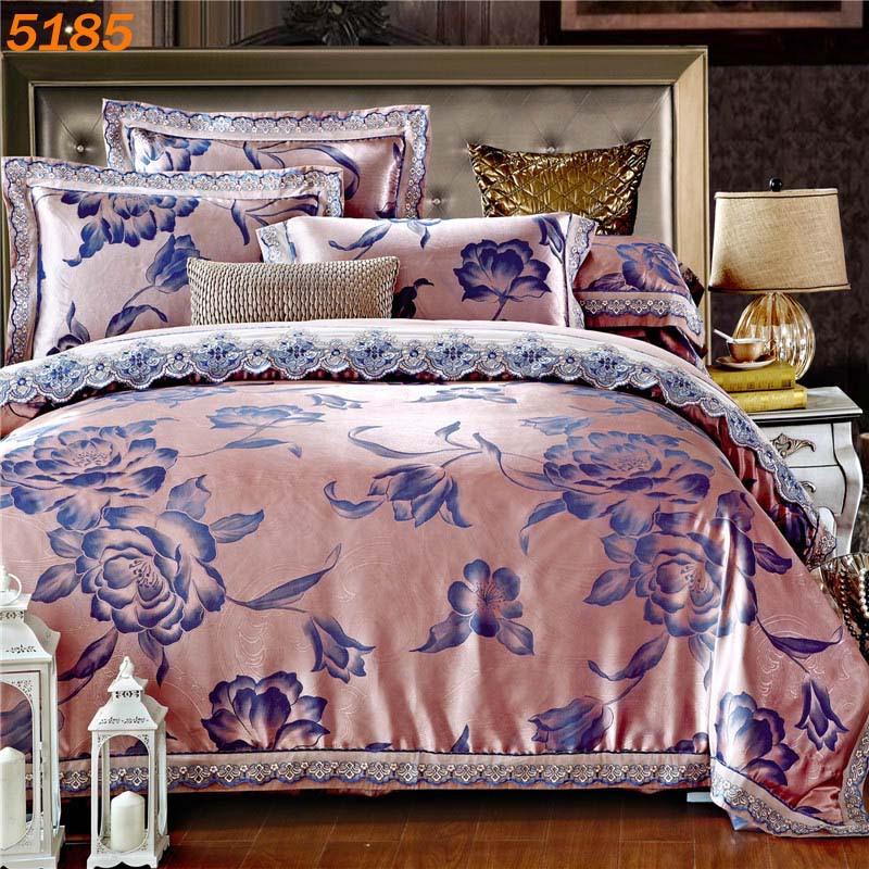 Purple Luxury silk bedding sets 4pcs duvet quilt tencel comforters covers  queen king size bedclothes bedspreads. Compare Prices on Luxury Bedspreads Comforters  Online Shopping
