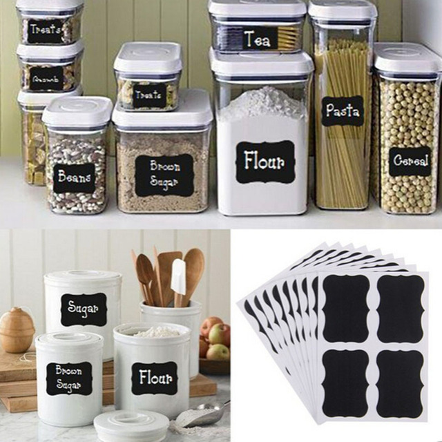 Chalkboard Jar Label Sticker (36pcs)
