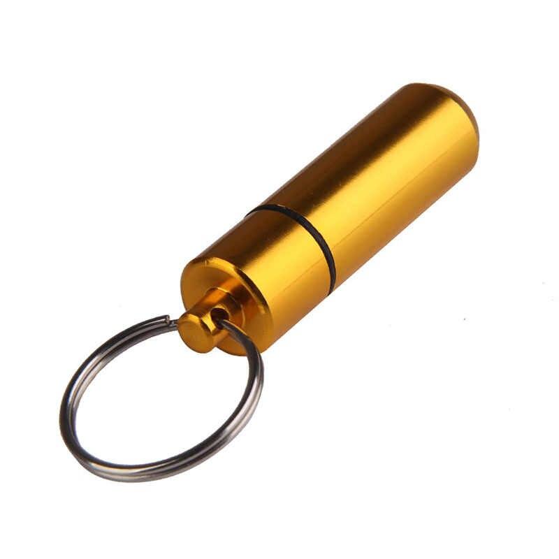 พ็อกเก็ตอลูมิเนียมพ็อกเก็ตอลูมิเนียม Pill Medicine First AIDS ขวดยุทธวิธี EDC เครื่องมือกีฬากลางแจ้ง Gallipot ตลับหมึก Self-Defense ชุด