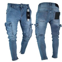 E-BAIHUI Jeans Men Distressed Skinny Jeans Designer Mens Slim Rock Revival Pants Straight Hip Hop Men Jogging pants LF806 TF806