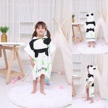 Детское пляжное полотенце s дышащие теплые детские Мультяшные халаты с капюшоном банные полотенца для отелей(панда