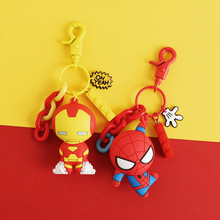 Marvel Avengers Infinity War Keychains Iron Man Iron Spider Hulkbuster Thanos Doctor Strange Captain America Figures Toys Dolls hot toy 5style q version cute the avengers 2 age of ultron hulkbuster iron man captain america action figures collectibles toys