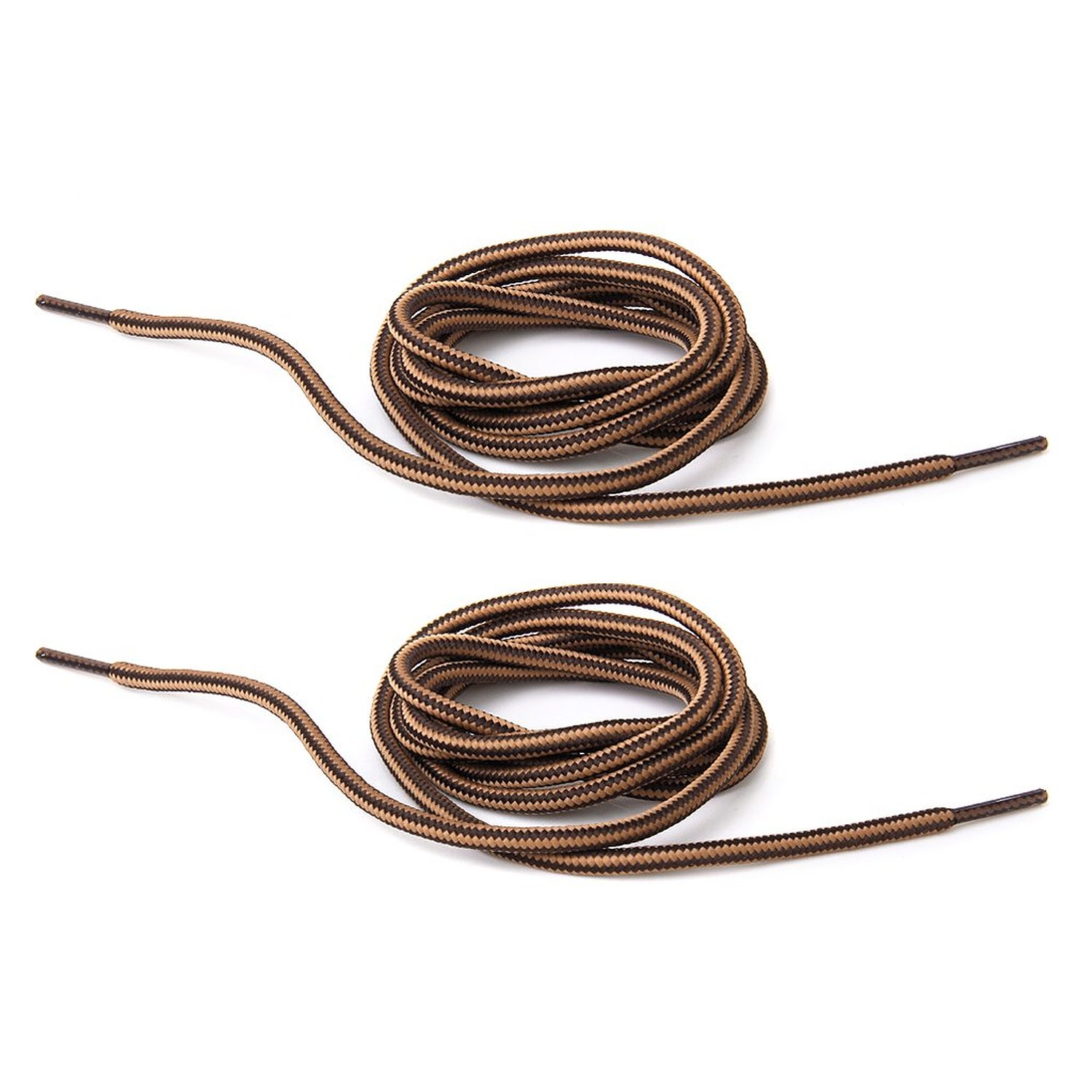 New 1 pair 150 cm Durable High Resistance Laces for Hiking Shoes - Brown Coffee StripesNew 1 pair 150 cm Durable High Resistance Laces for Hiking Shoes - Brown Coffee Stripes