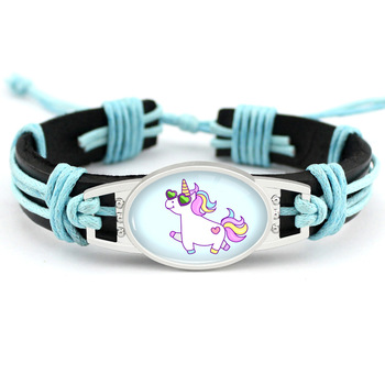 Unicorn Leather Wrap Bracelets