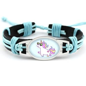 Unicorn Leather Wrap Bracelets