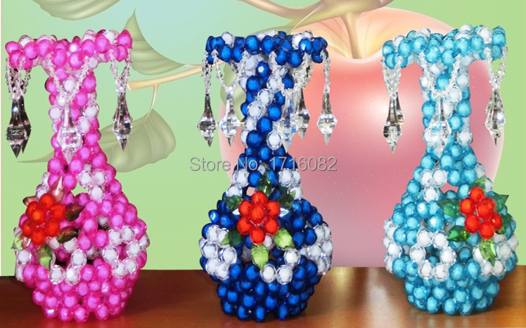 Hot Selling Beaded Flower Vase For Decorating Life In Family And