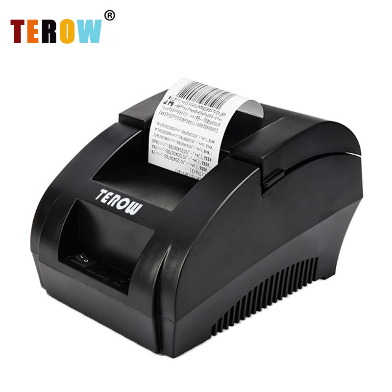 TEROW 5890K Thermal Receipt Printer POS Printer USB Paper Roll Port 58mm Thermal Low Noise For Restaurant And Supermarket