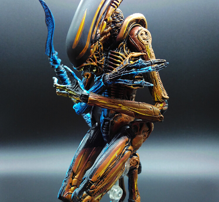 Alien vs Predator Chestbuster Toys Alien Queen Double Color Anime Movable Toys Action Figure Alien vs Predator 6pcs set alien vs predator mini classic predator pvc brinquedos collection figures toys with retail box anno00395a