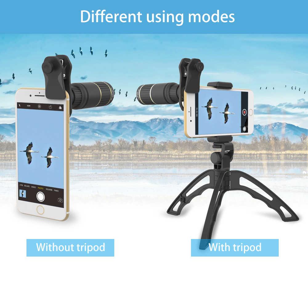 Apexel Máy Ảnh Điện Thoại Di Động Ống Kính 16X Zoom Kính Thiên Văn Một Mắt Ống Kính Với Chân Máy Bluetooth Cho Iphone 7 Samsung Thể Thao Buổi Hòa Nhạc