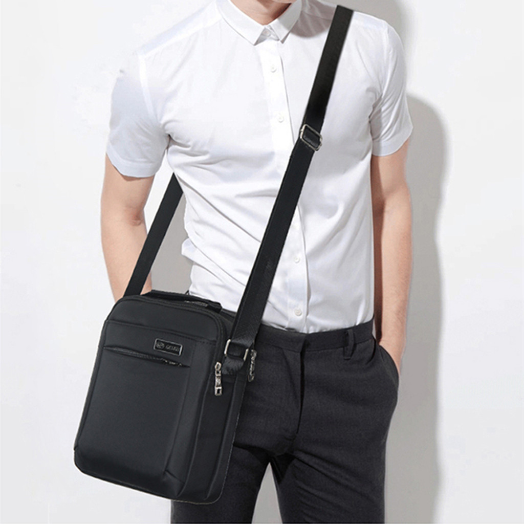 Business-Shoulder-Bag Lock Notebook Baggage Outdoor Fashion Men Solid -15 Men's Casual