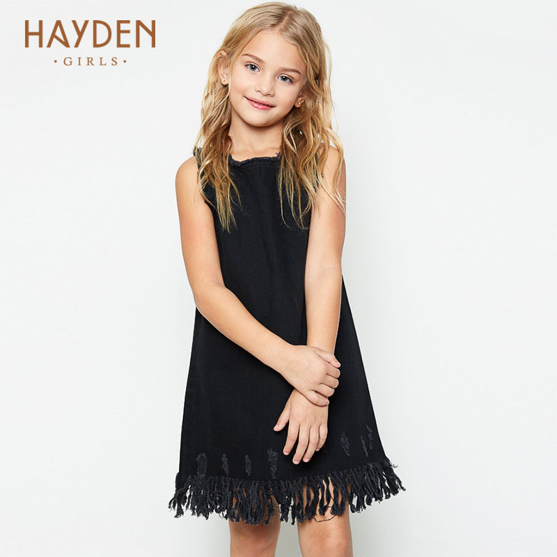 HAYDEN teenage girls sundress 12 years summer dress cream denim children costumes for girls clothes 8 10Y teens fashion clothing hayden girls boho ethnic dress designs teenage girls national embroidered dresses flare sleeve loose fit dress for 7 to 14 years