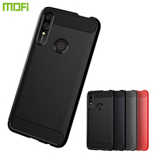 MOFi For Huawei Y9 Prime 2019 Case Luxury Carbon Fiber Anti-drop TPU Soft Cover Cases For Huawei Y9 Prime 2019 Back Cover mofi for huawei nova 5 pro case luxury carbon fiber anti drop tpu soft cover cases for huawei nova 5 pro back cover