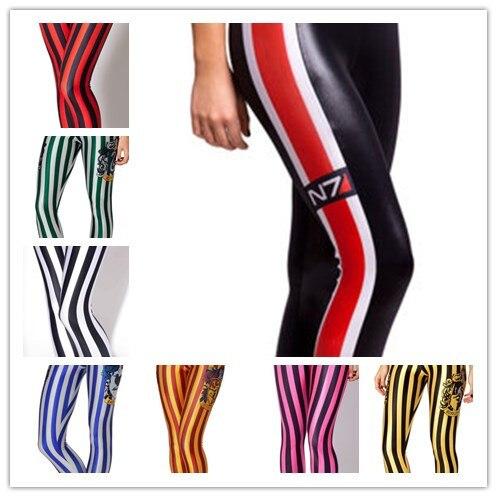 HOT Girl Fashion 3D Multicolor streifen Leggings Digitaldruck Leggings Zebra stripes druck...
