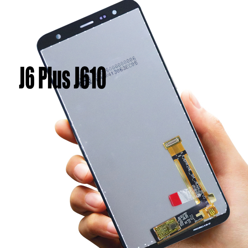6.0'' Original Super AMOLED LCD For Samsung Galaxy J6 Plus J610 SM-J610FN Display With Touch Screen Assembly Replacement Parts