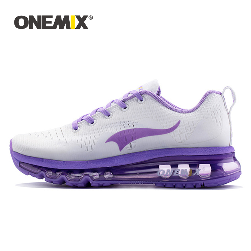 ONEMIX Women Running Shoes Women Sports Shoes Sneakers Damping Air Cushion Breathable Knit Mesh Vamp For