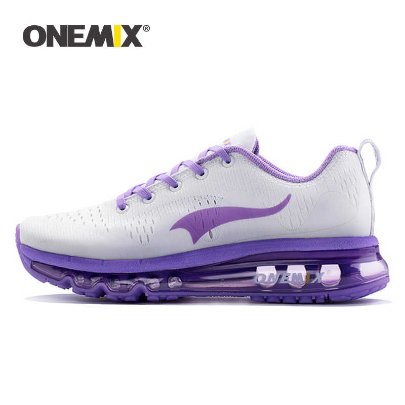 Onemix 2017 women running shoes women sports shoes sneakers damping cushion breathable knit mesh vamp for outdoor walking shoes